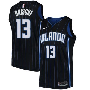 Men's Isaiah Briscoe Orlando Magic Nike Swingman Black Jersey - Statement Edition