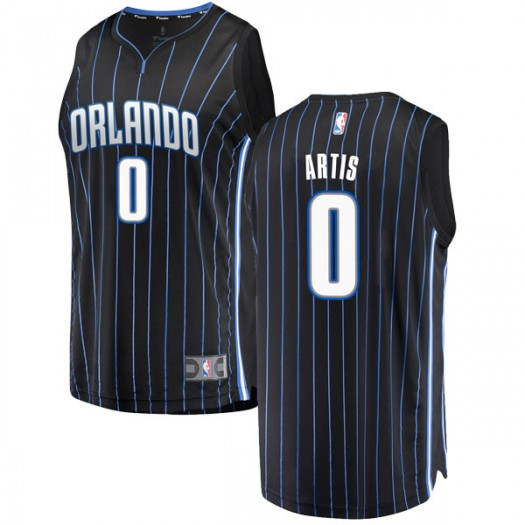 Men's Jamel Artis Orlando Magic Fanatics Branded Swingman Black Fast Break Jersey - Statement Edition