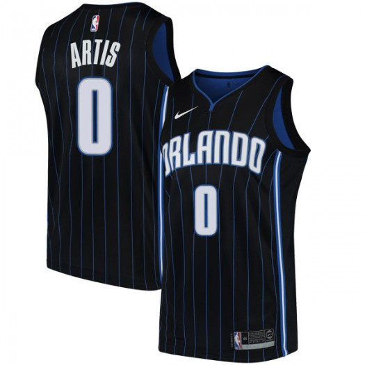Men's Jamel Artis Orlando Magic Nike Swingman Black Jersey - Statement Edition