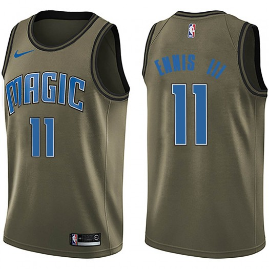 Men's James Ennis III Orlando Magic Nike Swingman Green Salute to Service Jersey