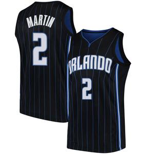 Men's Jarell Martin Orlando Magic Nike Swingman Black Jersey - Statement Edition