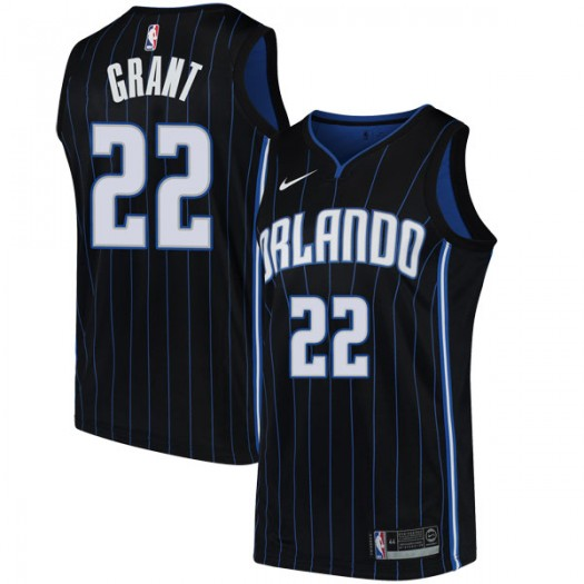 Men's Jerian Grant Orlando Magic Nike Swingman Black Jersey - Statement Edition