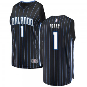 Men's Jonathan Isaac Orlando Magic Fanatics Branded Swingman Black Fast Break Jersey - Statement Edition