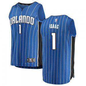 Men's Jonathan Isaac Orlando Magic Fanatics Branded Swingman Blue Fast Break Jersey - Icon Edition