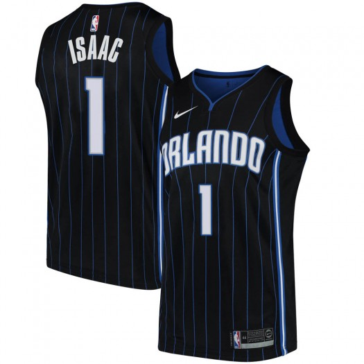 Men's Jonathan Isaac Orlando Magic Nike Swingman Black Jersey - Statement Edition