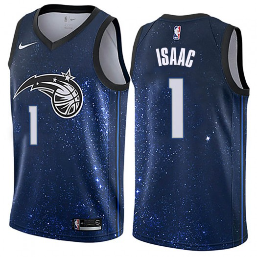 Men's Jonathan Isaac Orlando Magic Nike Swingman Blue Jersey - City Edition