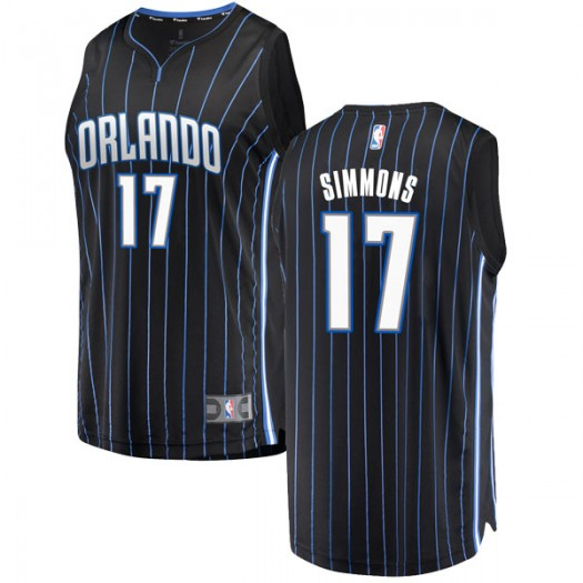 Men's Jonathon Simmons Orlando Magic Fanatics Branded Swingman Black Fast Break Jersey - Statement Edition