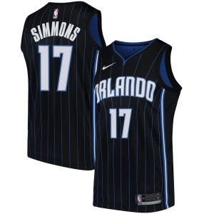 Men's Jonathon Simmons Orlando Magic Nike Swingman Black Jersey - Statement Edition