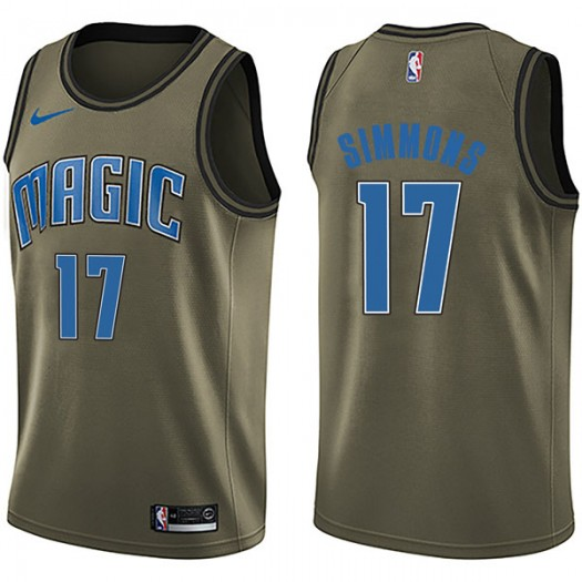 Men's Jonathon Simmons Orlando Magic Nike Swingman Green Salute to Service Jersey