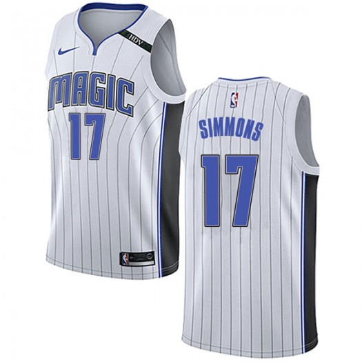 Men's Jonathon Simmons Orlando Magic Nike Swingman White Jersey - Association Edition