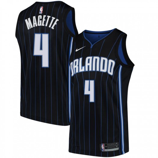 Men's Josh Magette Orlando Magic Nike Swingman Black Jersey - Statement Edition