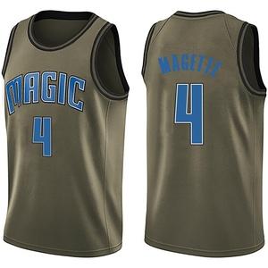 Men's Josh Magette Orlando Magic Nike Swingman Green Salute to Service Jersey