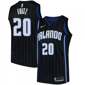 Men's Markelle Fultz Orlando Magic Nike Swingman Black Jersey - Statement Edition