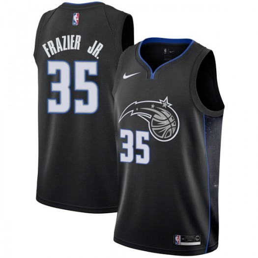 Men's Melvin Frazier Jr. Orlando Magic Nike Swingman Black 2018/19 Jersey - City Edition