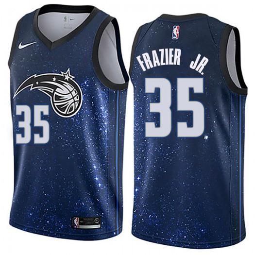Men's Melvin Frazier Jr. Orlando Magic Nike Swingman Blue Jersey - City Edition