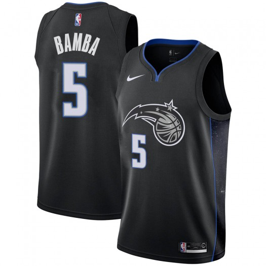 Men's Mohamed Bamba Orlando Magic Nike Swingman Black 2018/19 Jersey - City Edition