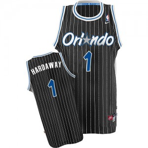 Men's Penny Hardaway Orlando Magic Nike Authentic Black Throwback Jersey