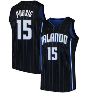 Men's Rodney Purvis Orlando Magic Nike Swingman Black Jersey - Statement Edition