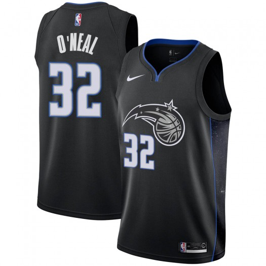 Men's Shaquille O'Neal Orlando Magic Nike Swingman Black 2018/19 Jersey - City Edition