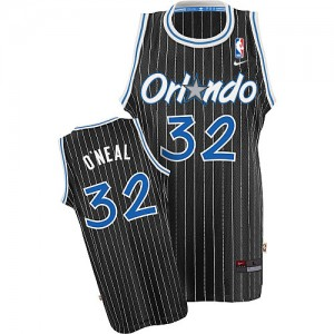 Men's Shaquille O'Neal Orlando Magic Nike Swingman Black Throwback Jersey