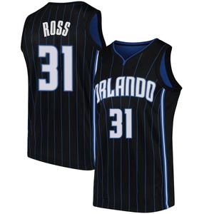Men's Terrence Ross Orlando Magic Nike Swingman Black Jersey - Statement Edition