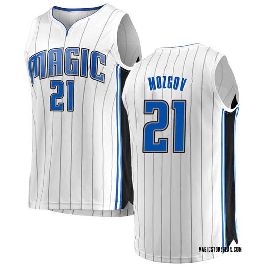 Men's Timofey Mozgov Orlando Magic Fanatics Branded Swingman White Fast Break Jersey - Association Edition