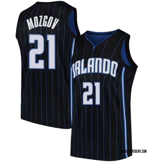 Men's Timofey Mozgov Orlando Magic Nike Swingman Black Jersey - Statement Edition