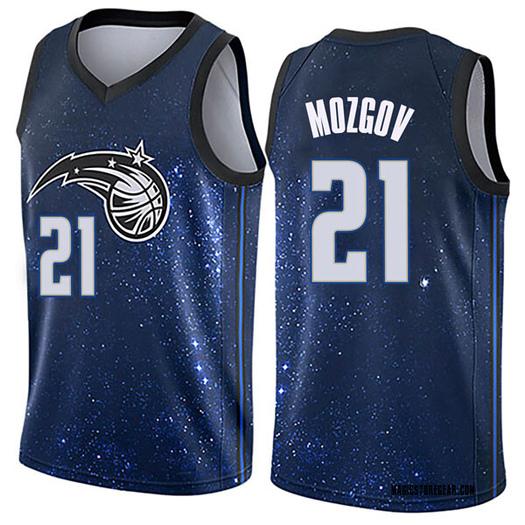 Men's Timofey Mozgov Orlando Magic Nike Swingman Blue Jersey - City Edition