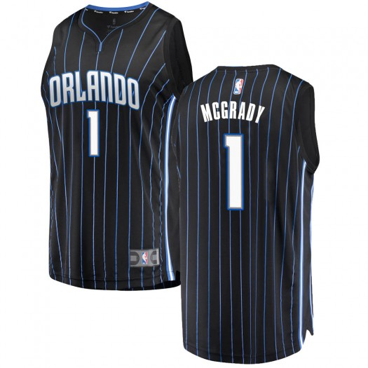 Men's Tracy Mcgrady Orlando Magic Fanatics Branded Swingman Black Fast Break Jersey - Statement Edition