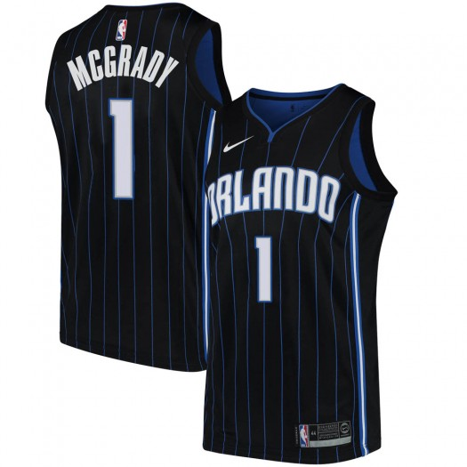 Men's Tracy Mcgrady Orlando Magic Nike Swingman Black Jersey - Statement Edition