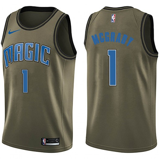 Men's Tracy Mcgrady Orlando Magic Nike Swingman Green Salute to Service Jersey
