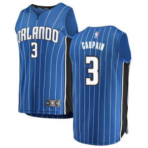 Men's Troy Caupain Orlando Magic Fanatics Branded Swingman Blue Fast Break Jersey - Icon Edition