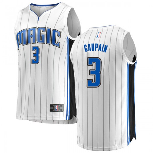 Men's Troy Caupain Orlando Magic Fanatics Branded Swingman White Fast Break Jersey - Association Edition