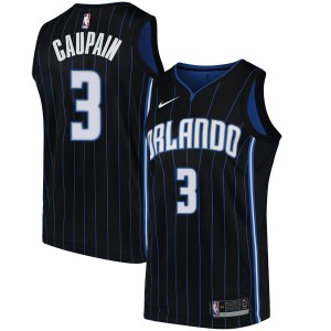 Men's Troy Caupain Orlando Magic Nike Swingman Black Jersey - Statement Edition