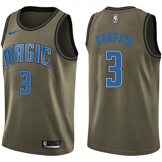 Men's Troy Caupain Orlando Magic Nike Swingman Green Salute to Service Jersey