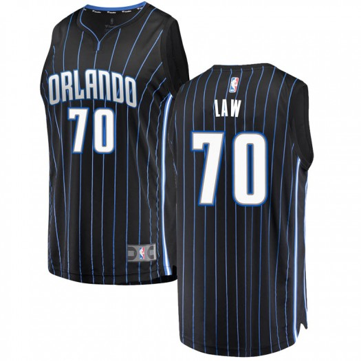 Men's Vic Law Orlando Magic Fanatics Branded Swingman Black Fast Break Jersey - Statement Edition