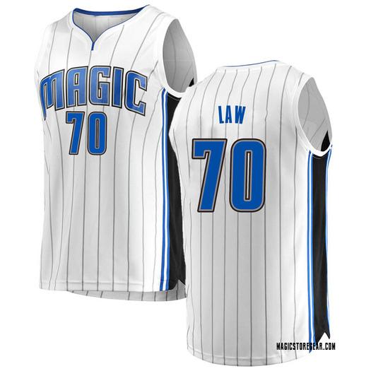 Men's Vic Law Orlando Magic Fanatics Branded Swingman White Fast Break Jersey - Association Edition