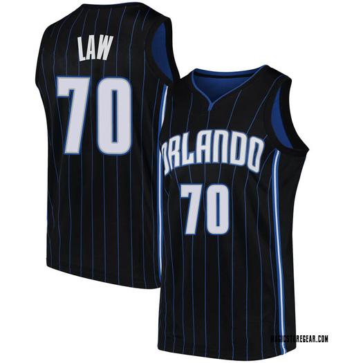 Men's Vic Law Orlando Magic Nike Swingman Black Jersey - Statement Edition