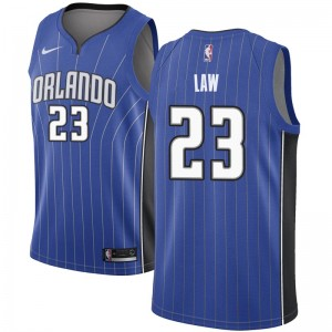 Men's Vic Law Orlando Magic Nike Swingman Royal Jersey - Icon Edition