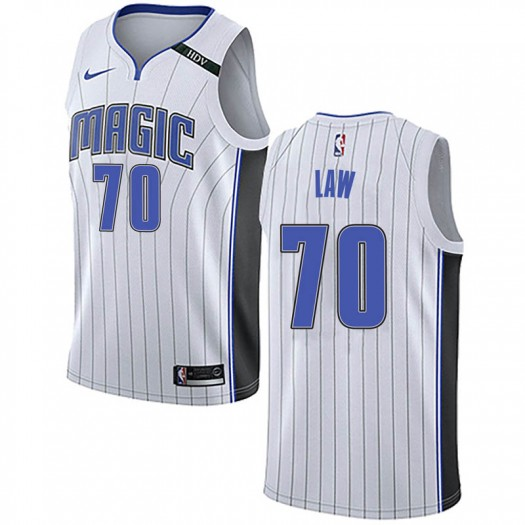 Men's Vic Law Orlando Magic Nike Swingman White Jersey - Association Edition