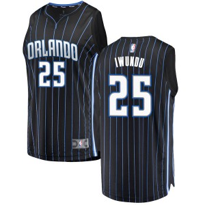Men's Wes Iwundu Orlando Magic Fanatics Branded Swingman Black Fast Break Jersey - Statement Edition
