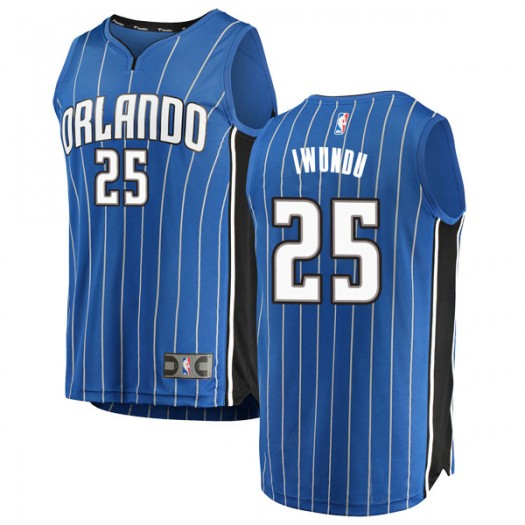 Men's Wes Iwundu Orlando Magic Fanatics Branded Swingman Blue Fast Break Jersey - Icon Edition