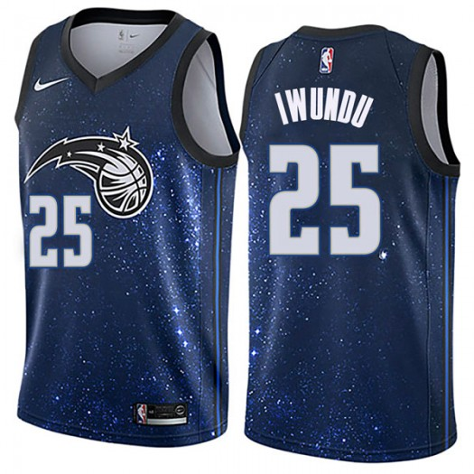 Men's Wes Iwundu Orlando Magic Nike Swingman Blue Jersey - City Edition