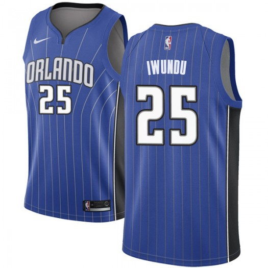 Men's Wes Iwundu Orlando Magic Nike Swingman Royal Jersey - Icon Edition