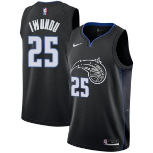 Men's Wesley Iwundu Orlando Magic Nike Swingman Black 2018/19 Jersey - City Edition