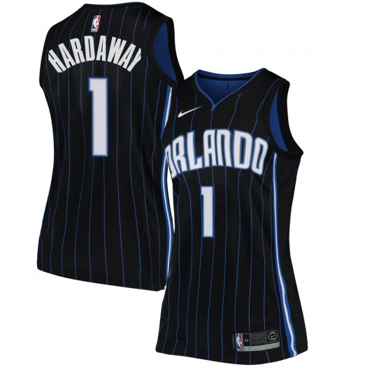 Women's Anfernee Hardaway Orlando Magic Nike Swingman Black Jersey - Statement Edition