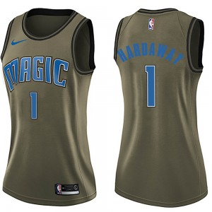 Women's Anfernee Hardaway Orlando Magic Nike Swingman Green Salute to Service Jersey