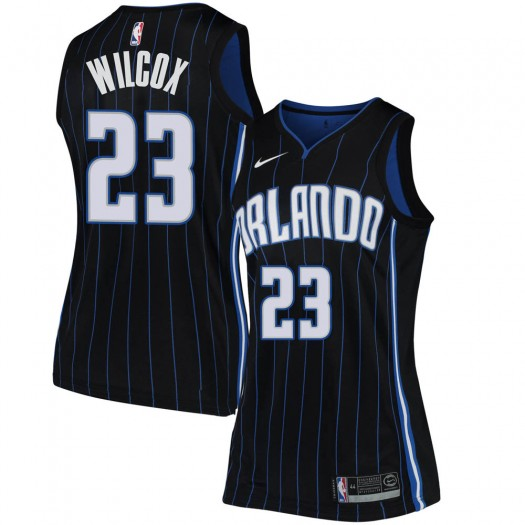 Women's C.J. Wilcox Orlando Magic Nike Swingman Black Jersey - Statement Edition