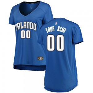 Women's Custom Orlando Magic Fanatics Branded Swingman Royal Fast Break Jersey - Icon Edition