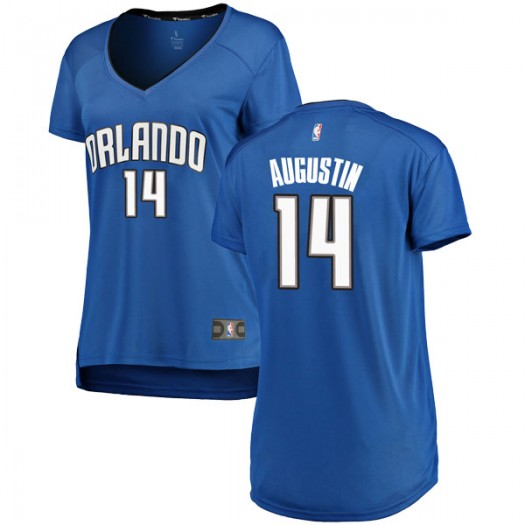 Women's D.J. Augustin Orlando Magic Fanatics Branded Swingman Royal Fast Break Jersey - Icon Edition